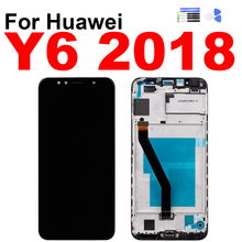 купить For Huawei Y6 2018 Display Touch Screen Digitizer LCD Assembly for Huawei Y6 Prime 2018 Screen with Frame Repair Replacement по цене 1008.23 рублей