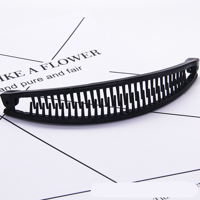 New Hair Claws Clip Fish Shape Banana Barrettes Black Brown Hairpins Hair Accessories For Women Hair Clip Clamp