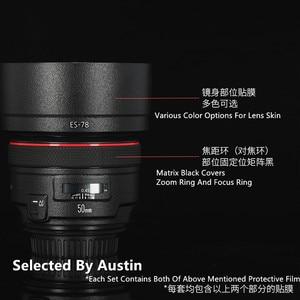 Image 1 - Premium Lente f1.2 Della Pelle Della Decalcomania Wrap Film Per Canon EF50mm Anti scratch Sticker Protector
