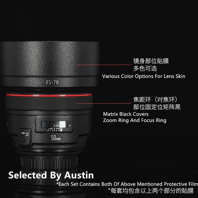 Premium Lente f1.2 Della Pelle Della Decalcomania Wrap Film Per Canon EF50mm Anti scratch Sticker Protector