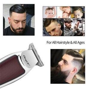 Image 5 - USB מקצועי שיער גוזז חשמלי שיער גוזם אלחוטי שיער מכונת חיתוך גברים זקן גוזם מכונת גילוח תספורת קליפר