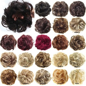 Oubeca Synthetic Flexible Hair Buns Curly Scrunchy Chignon Elastic Messy Wavy Scrunchies Wrap For Ponytail Extensions For Women(China)