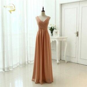 Image 1 - Женское шифоновое вечернее платье, сексуальное длинное платье с V образным вырезом, модель OL3100 по низкой цене, 2020