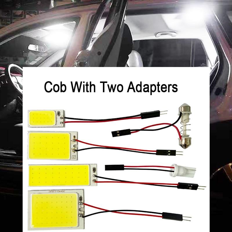 promotion White T10 W5w Cob 24SMD 36SMD 48SMD Car Led Auto Interior Reading Lamp Bulb Light Dome Festoon Vehicle Panel Lamp 1pcs