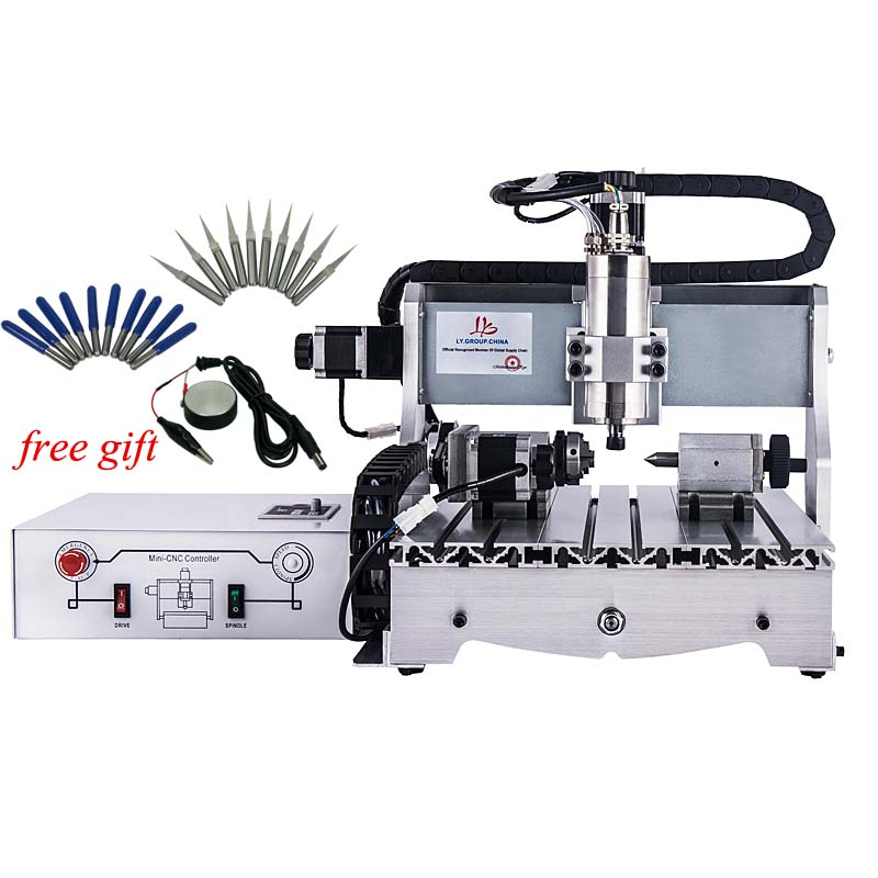 4030 CNC Router 2.2KW Ball Screw Frame Milling Mental Stone Machine With Free Drill Knife