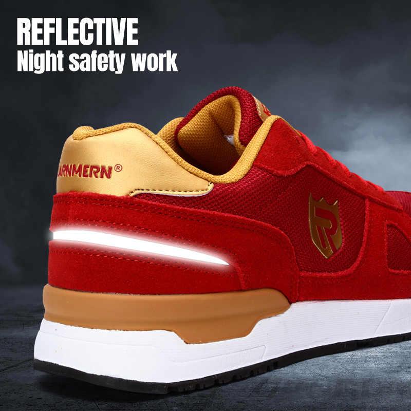 LARNMERN iş güvenliği için ayakkabı erkekler kadın çelik ayak hafif nefes SRC kaymaz S1 endüstriyel ayakkabı siyah kırmızı mavi gri