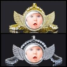 Заказное фото массивное ожерелье с подвеской блестящим кристаллом