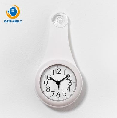 Silent Home Decoration Wall Watch Creative Silicone Suction Cup Waterproof Anti-drop Bathroom Kitchen Refrigerator Wall Clock