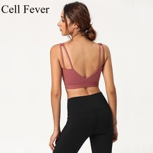 Women Sports Bras Shockproof Push Up Running Vest Gym Workout Tops Sportswear Yoga Sport Padded Crop Bra Wireless S-XL