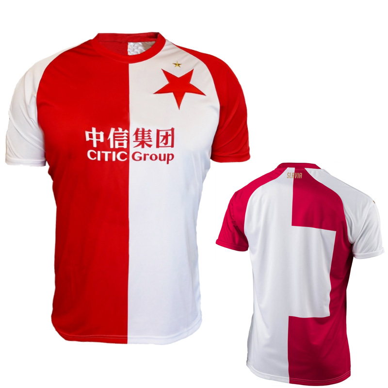 T-Shirt Customize-Jerseys Tomas Czech Republic Praha Soucek Camiseta Fc-Club White Red title=