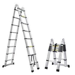 1 Uds 2,5 M + 2,5 M escalera telescópica de aluminio con junta