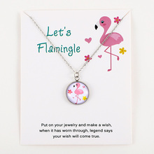 Flamingos Silver Pendants Chain Necklaces Unicorn Bee Animal Charms Women Men Unisex Trendy Jewelry Lovers Christmas Party Gift