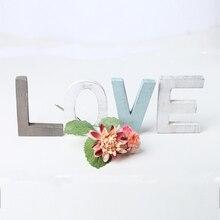 Свадебные украшения Свадебный декор Любовь День рождения украшения деревенские белые буквы Свадебный знак