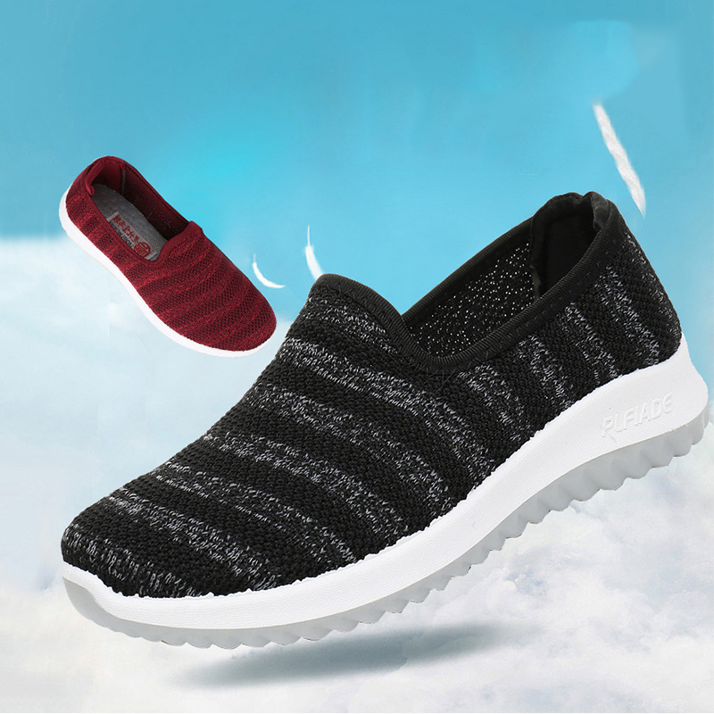 2020 Women Sneakers Fashion Socks Shoes Casual Sneakers Summer Knitted Vulcanized Shoes Women Trainers Tenis Feminino NVX189