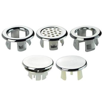 High Quality 1 Pc Sink Round Ring Overflow Spare Cover Tidy Chrome Trim Bathroom Ceramic Basin сифон