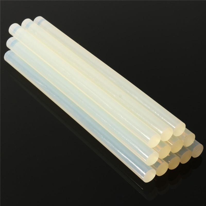 20pcs/lots Hot Melt Glue Sticks 11mm 100mm-300mm For Electric Glue Gun Car Audio Craft Alloy Accessories Glue Sticks