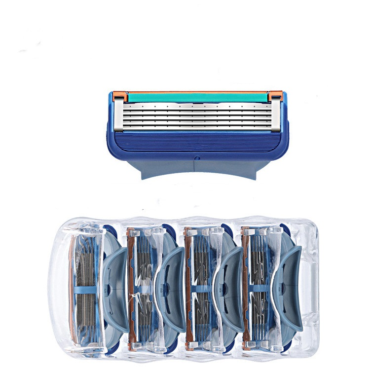 4pcs/lot Razor Blades 5 Layer Blades Shaving For Gilettee Fusion Power Shaver Blades For Gillettee Proglide Machine