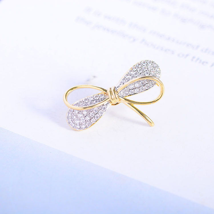 Mini Bowknot Brooch Pin for Women's Silver Vitage Brooch Jewelry Clothes Scarf Buckle Garment Accessories Fine Jewelry Gifts-3