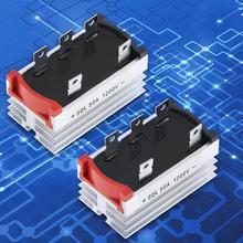 2 шт. 50A 1200 в Алюминиевый металлический чехол 3 трехфазный диодный мостовой выпрямитель 50Amp 2,4*1,4*1,6 дюйма мостовой выпрямитель Electronica