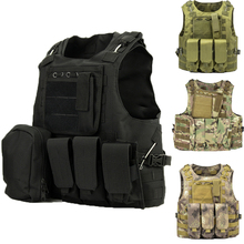 Camouflage Hunting Tactical Vest Molle Military Wargame Body Armor Hunting Vest Durable Shooting CS Outdoor Army Paintball Vests new outlife camouflage hunting military tactical vest wargame body molle armor hunting vest cs outdoor jungle equipment