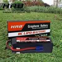 Conector de grafeno hrb  bateria de 6s  22.2v  6000mah  100c  xt90  para goblin 570  align trex 700 800e helicóptero rc carro barco