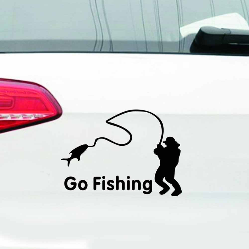 Car Styling Decal Reflective Casual Fishing Waterproof Fashion Car Sticker Essential Accessories