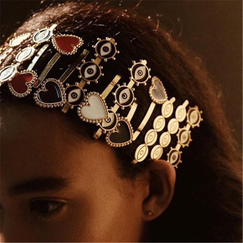 Devil'S Eye Hair Clip Punk Style Hairpin European And American New Love Fashion Hair Accessories