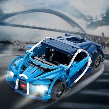 цена на Cada RC City Technic Series Blue Phantom Racing Cars Model Building Blocks Remote Control Vehicle Bricks Toys for Children Gifts
