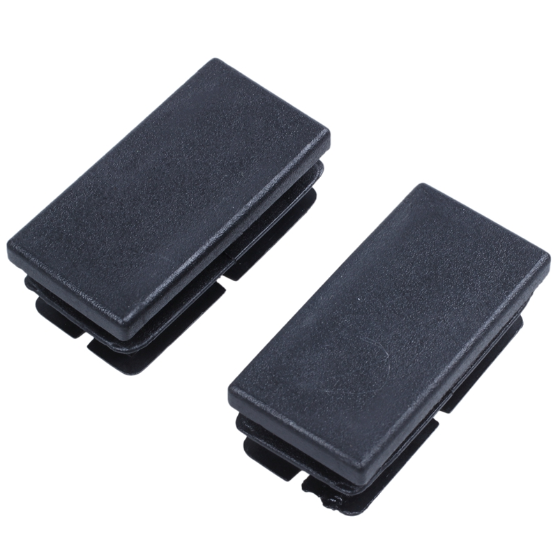 Hot Sale 8 Pcs Black Plastic Rectangular Blanking End Caps Inserts 20mm X 40mm