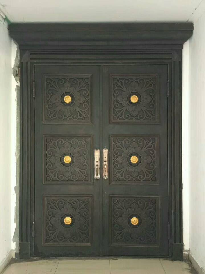 Shanghai Hench Brand China Factory 100% Custom Made Sale Australia Wood And Iron Front Doors