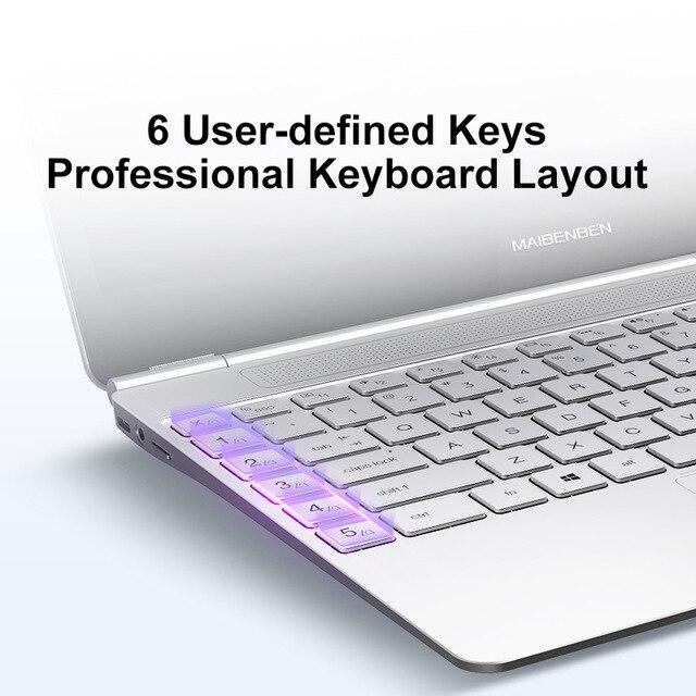 "Laptop MAIBENBEN JinMai 6 S480 [14""FHD, 72% NTSC, intel N4100, Backlit keyboard] 1 year warranty,Portable 3"