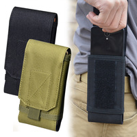5,5 Inch Im Freien Militär Handy Lauf Pouch Fall Taille Holster Taktische Molle Mobile Gürtel Jagd Halter Tasche Telefon