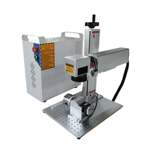 Free sea shipping fiber laser 20W 30W 50W marking machine price with rotary axis metal engraver