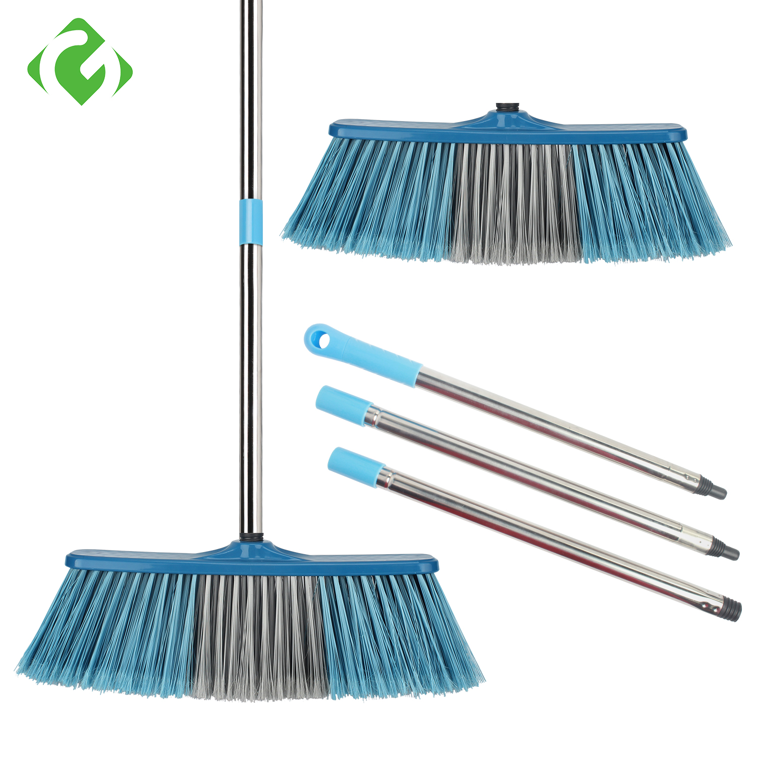 GUANYAO Big Broom Floor Cleaning Long Handle Bristle Grout Brooms Scrubber for Cleaning Outdoor Courtyard Warehouse  Tools