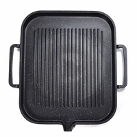 BBQ Barbecue Aluminum Frying Grill Pan Plate Non Stick Coating Cookware Induction Compatible Kitchen Cooking BBQ Pan 2 4 People