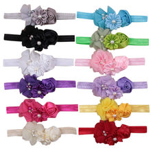 Baby Headband Flower Girls Ribbon Hair Bands for Baby pearl Girls Kids Headbands Turban Newborn Haarband Baby Hair Accessories(China)