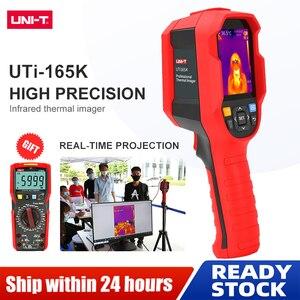 Image 2 - UNI T UTi165K HD الأشعة تحت الحمراء كاميرا تصوير الحرارية الطابق التدفئة الكاشف نطاق درجة الحرارة 10 درجة مئوية ~ 400 درجة مئوية 2.8 بوصة شاشة TFT
