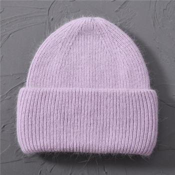 Casual Women's Hats Cashmere Wool Knitted Beanies Autumn Winter Brand New Three Fold Thick 2020 Knitted Girls Skullies Beanies 18