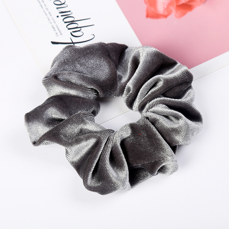 1pc Pure Color Bobble Sports Dance Soft Charming Scrunchie Hairband Solid Lady Hair Scrunchies Ring Elastic Cloth Hair Ring in Women 39 s Hair Accessories from Apparel Accessories