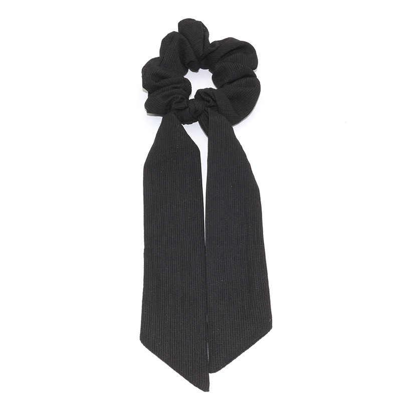 Nowy projekt solidna damska chusta na głowę elastyczna czeska opaska do włosów Scrunchie łuk włosy gumowe liny dziewczyny gumki do włosów akcesoria