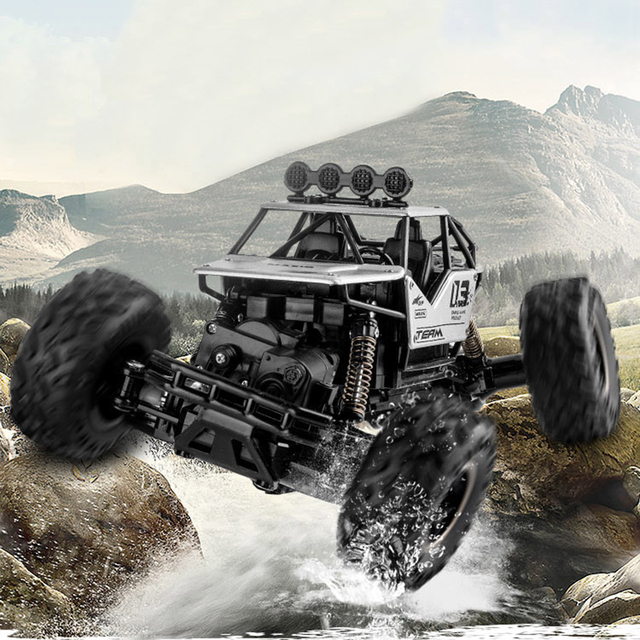4WD Electric RC Car Rock Crawler Remote Control Toy Cars The Radio Controlled 4x4 Drive RC Car Toys For Boys Kids Suprise Gift 5