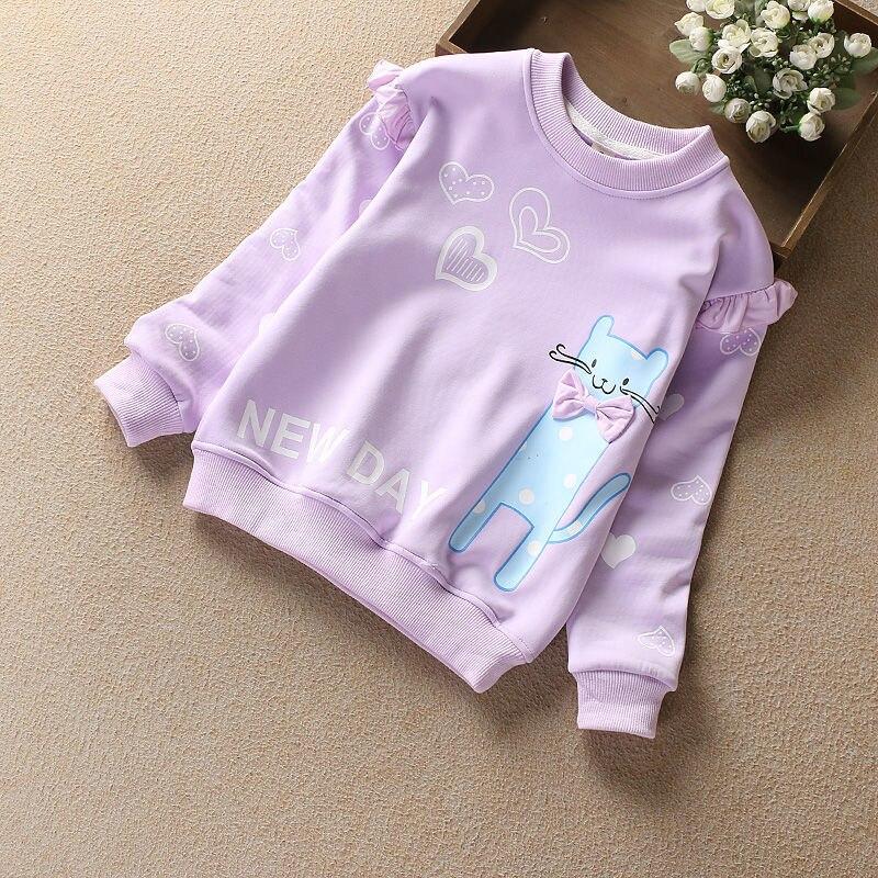 Vidmid Hoodie Sweatshirt Girl Casual O-neck Loose Hoodie Autumn Long Sleeve Hoodies Sweatshirts Sweat Children T-shirt P369