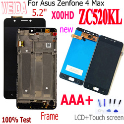 Original 5.2 '', display para asus zenfone 4 max zc520kl, display touch screen, digitalizador, montagem + moldura para asus zc520kl x00hd tela lcd