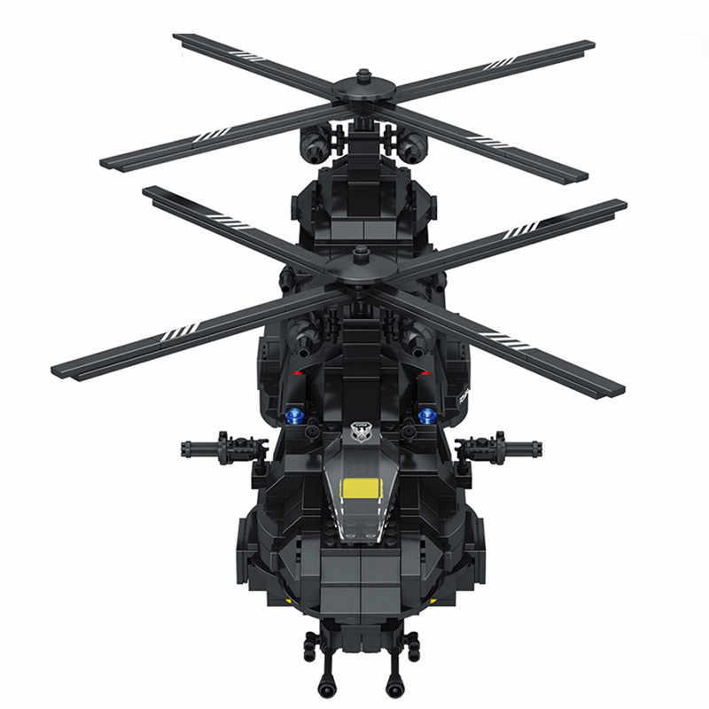 1351 Uds. Kits de bloques de construcción modelo grande SWAT equipo transporte helicóptero ciudad SWAT juguetes policiales para niños regalo
