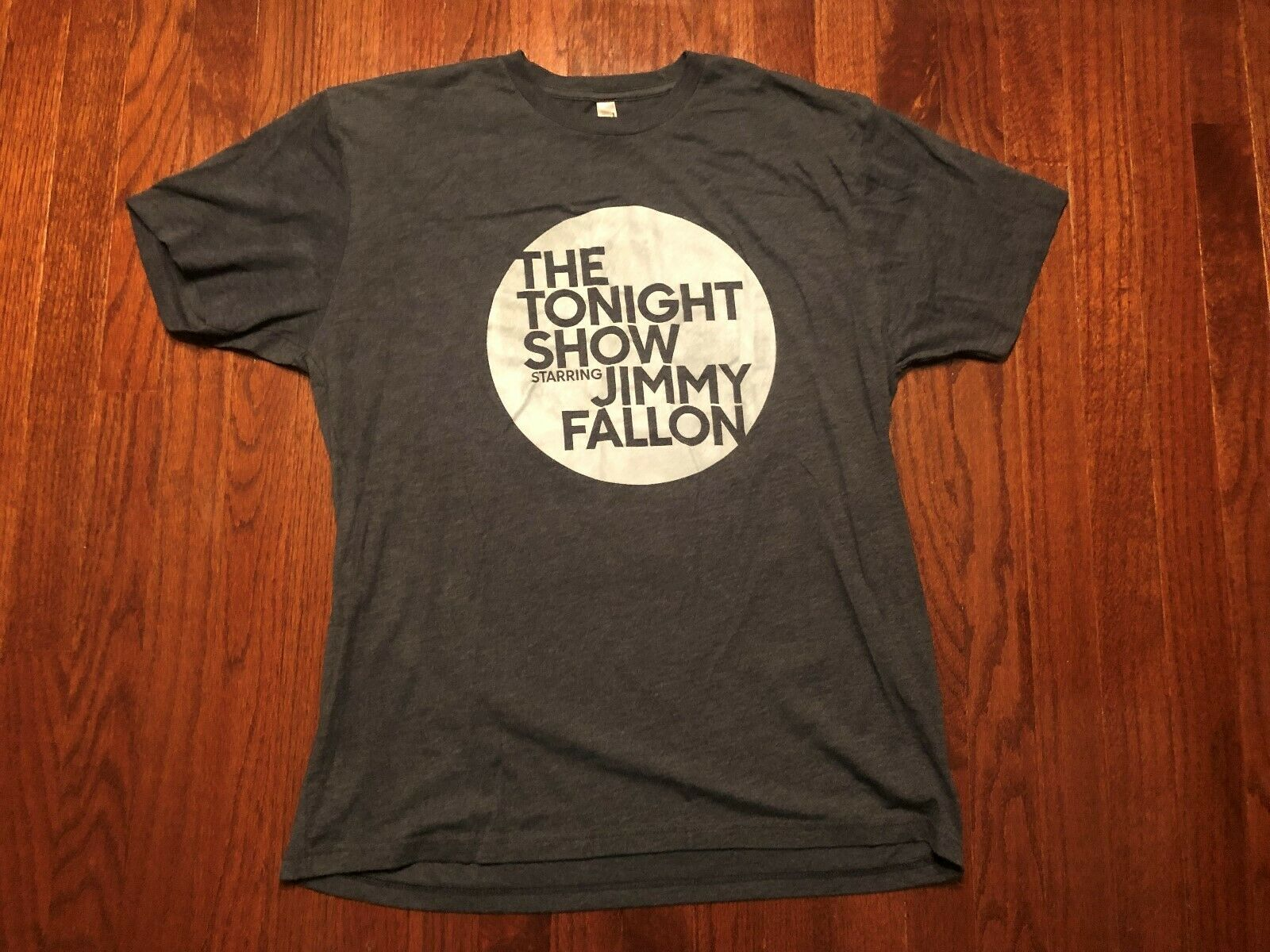 <font><b>THE</b></font> <font><b>TONIGHT</b></font> <font><b>SHOW</b></font> STARRING JIMMY FALLON T SHIRT MENS XL GRAY TV NIGHT image