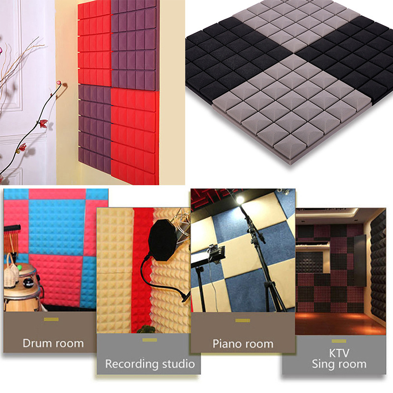 5pcs 30x30x5cm Soundproofing Foam Acoustic Foam Sound Treatment Studio Room Absorption Wedge Tile Polyurethane Foam Sponge