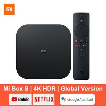 Xiaomi Mi Box S Smart TV Box Android 8.1 4K Ultra HD HDR 2G 8G WiFi Google Cast Netflix lecteur multimédia décodeur de contrôle intelligent