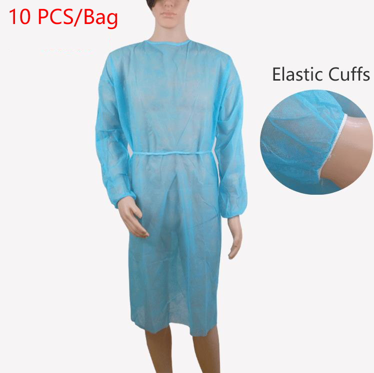 Disposable Aseptic Surgical Woven One-time Aprons Medical Clothing Cleanroom Garment Elastic Dust Proof Overalls Protective Work