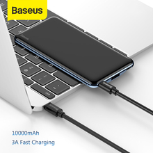 Baseus 10000mAh Power Bank Quick Charger 3A USB Type C Fast