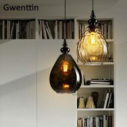 Винтаж ананас Стекло подвесные светильники Nordic светодиодный Лофт светильник подвесной промышленного назначения для крепление для